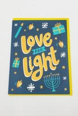 Allison Cole Love and Light Hanukkah Greeting Card - Allison Cole