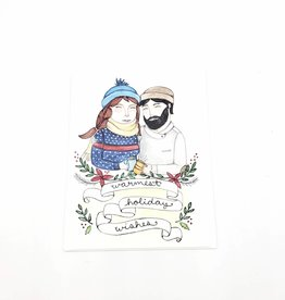 Warmest Holiday Wishes Greeting Card - Little Canoe