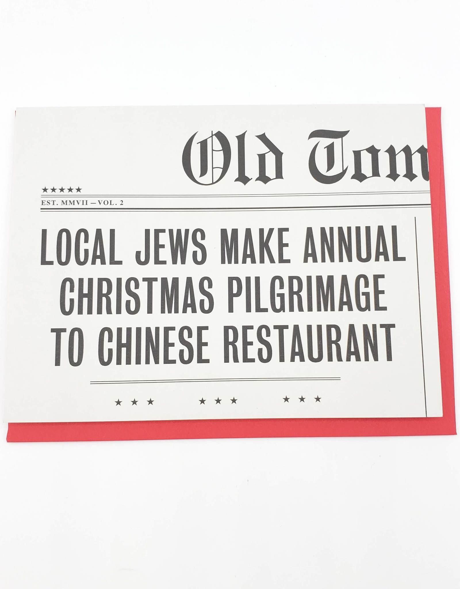 Chinese Restaurant Hanukkah Greeting Card - Old Tom Foolery