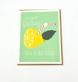 Seltzer Easy Peasy Lemon Squeezy Birthday Greeting Card - Seltzer