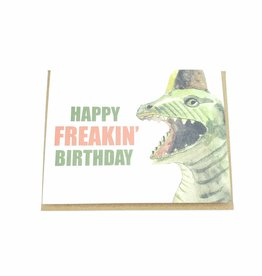 Mincing Mockingbird Happy Freakin' Birthday Greeting Card - The Mincing Mockingbird