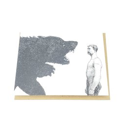 Mincing Mockingbird Bear Fighter Birthday Greeting Card - The Mincing Mockingbird