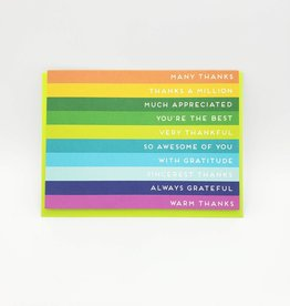 Seltzer Many Thanks Rainbow Greeting Card -Seltzer