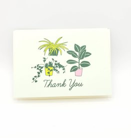 Seltzer Potted Plants Thank You Greeting Card -Seltzer