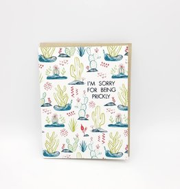 Allison Cole Prickly Sorry Greeting Card - Allison Cole