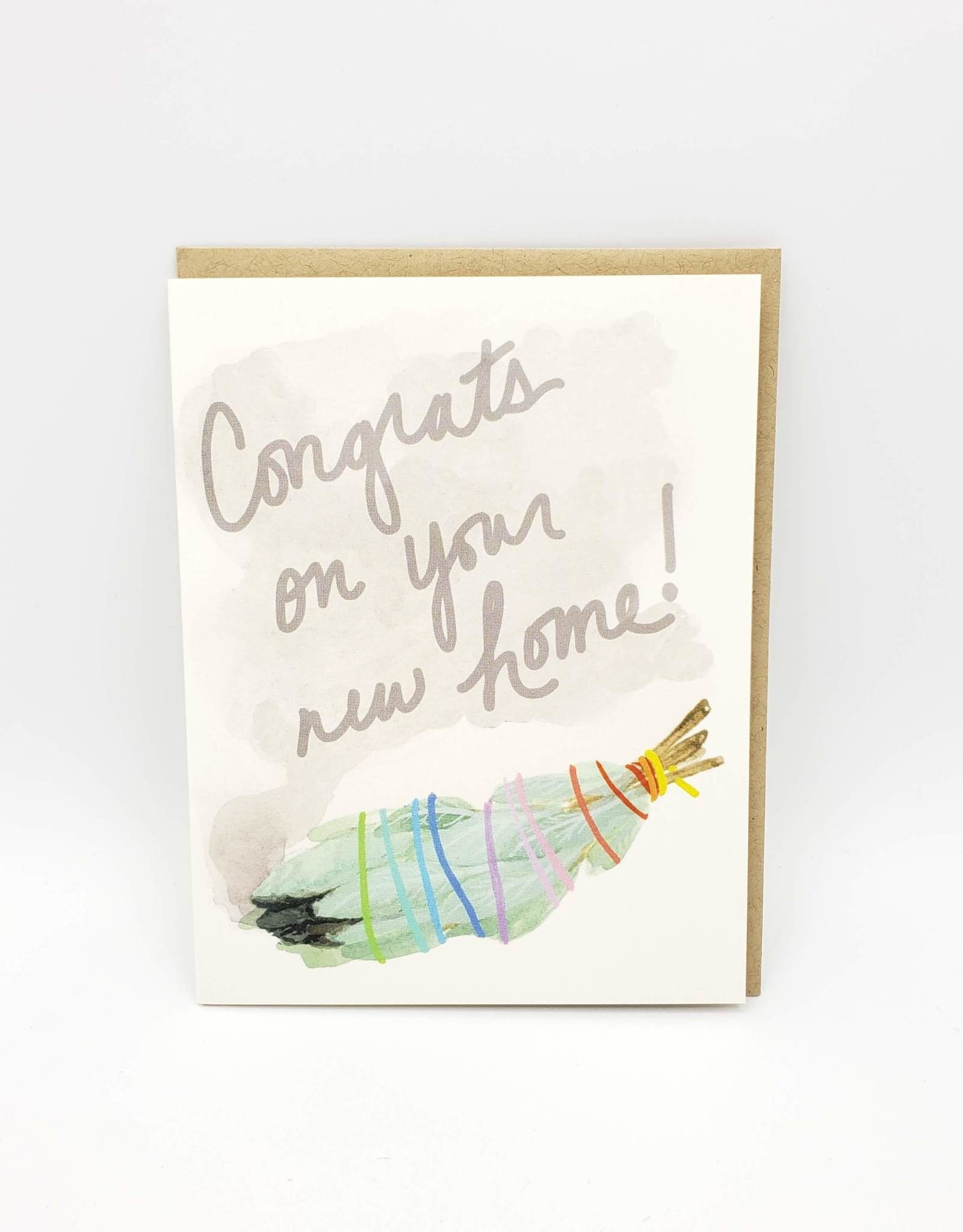 Congrats on Your New Home Sage Greeting Card - Dear Hancock