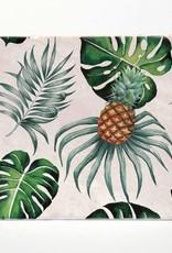 Palms & Pineapple Coaster Single - Versatile