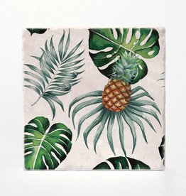 Palms & Pineapple Coaster Single - Versatile