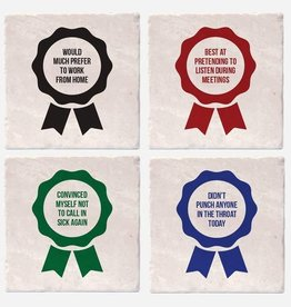 Adult Award Ribbon Coaster Single - Versatile