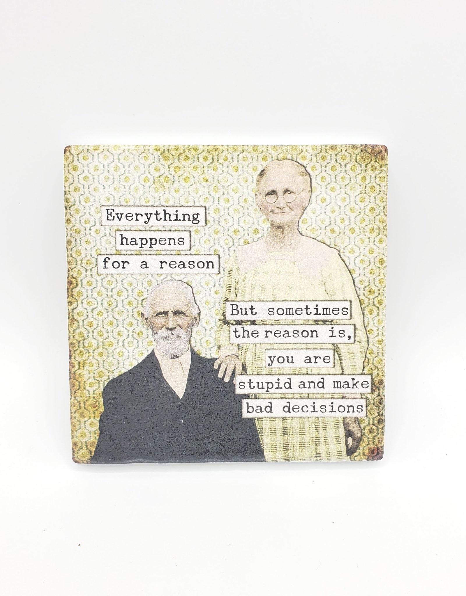 Old Married Couples Coaster Single - Versatile