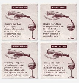 Wine Facts Coaster Single - Versatile
