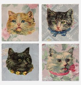 Vintage Cats Coaster Single - Versatile