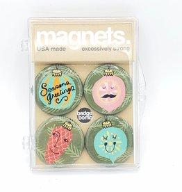 Badgebomb Holiday Ornaments Badge Bomb Magnet Set