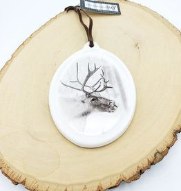 Stag Plaque Ornament