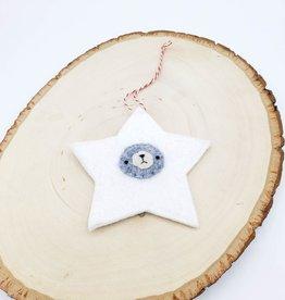 Star Bear Ornament, Felted