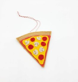 Pizza Slice Felted Ornament