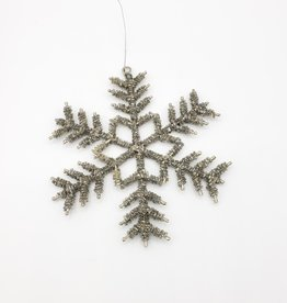 Beaded Snowflake Ornaments, set of 2