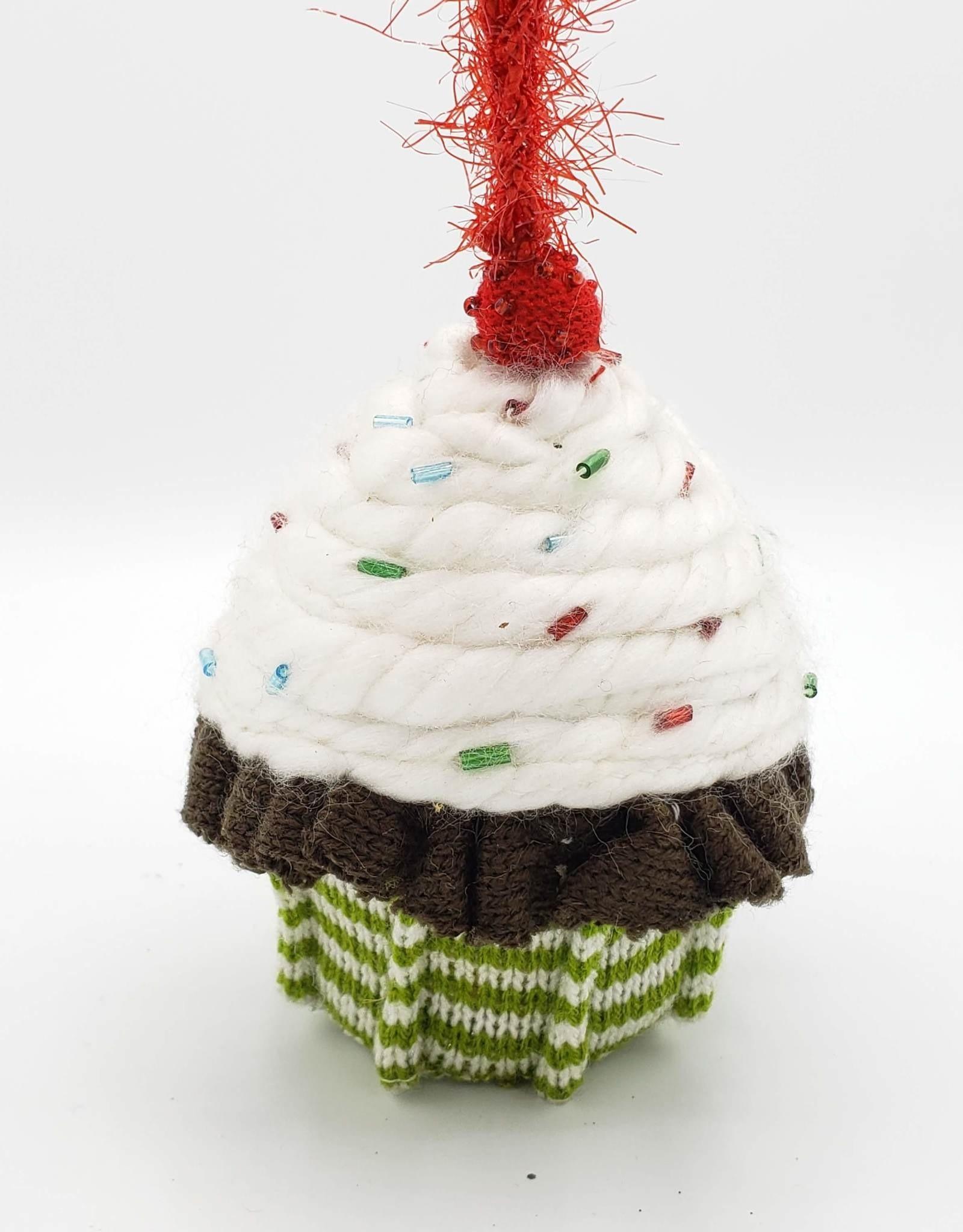 Plush Cupcake Ornament