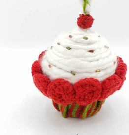 Plush Cupcake Ornament