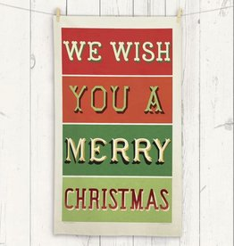Cavallini Papers Merry Christmas Tea Towel by Cavallini