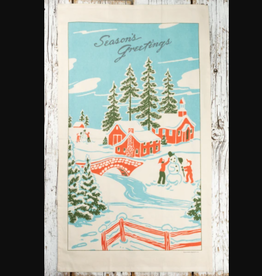 Cavallini Papers Winter Wonderland Tea Towel by Cavallini