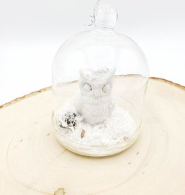 Owl in Glass Belljar Ornament
