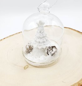 Pine Tree in Glass Belljar Ornament