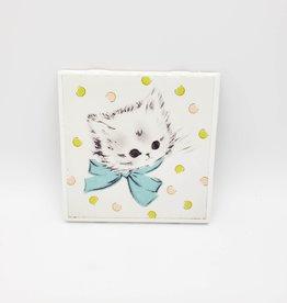 Kittens and Polkadots Drink Coaster