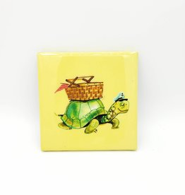 Picnic Tortoise Drink Coaster