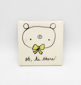 Hi There Bear Drink Coaster