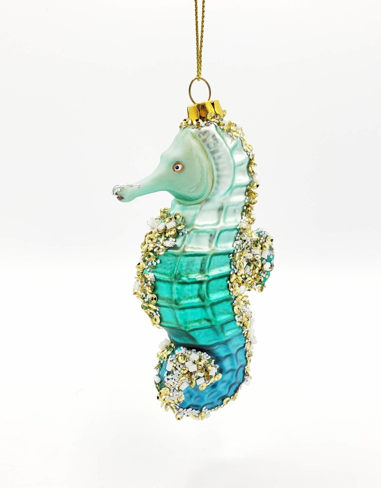 Glass Seahorse Ornament