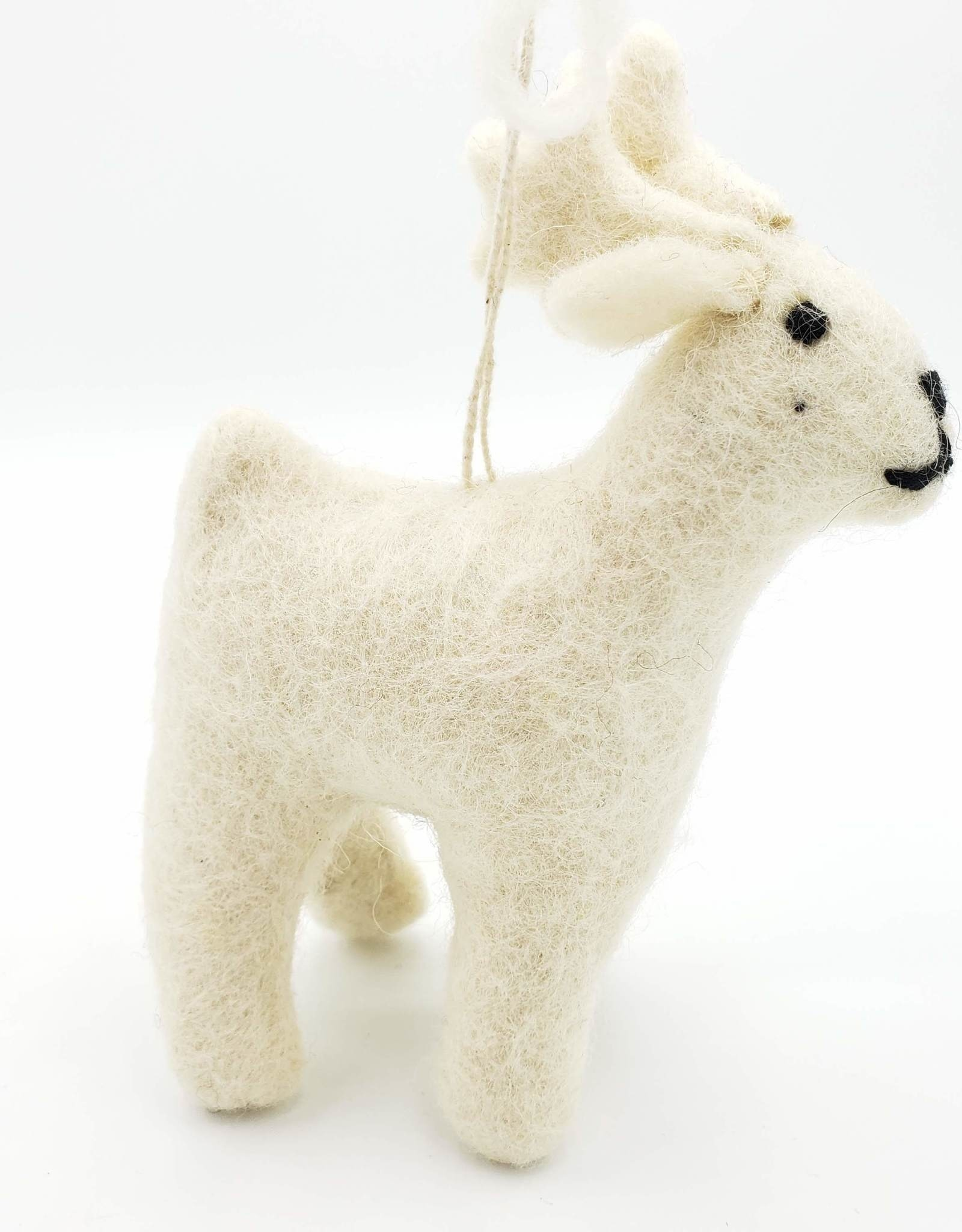 Reindeer Plush Ornament, Wool