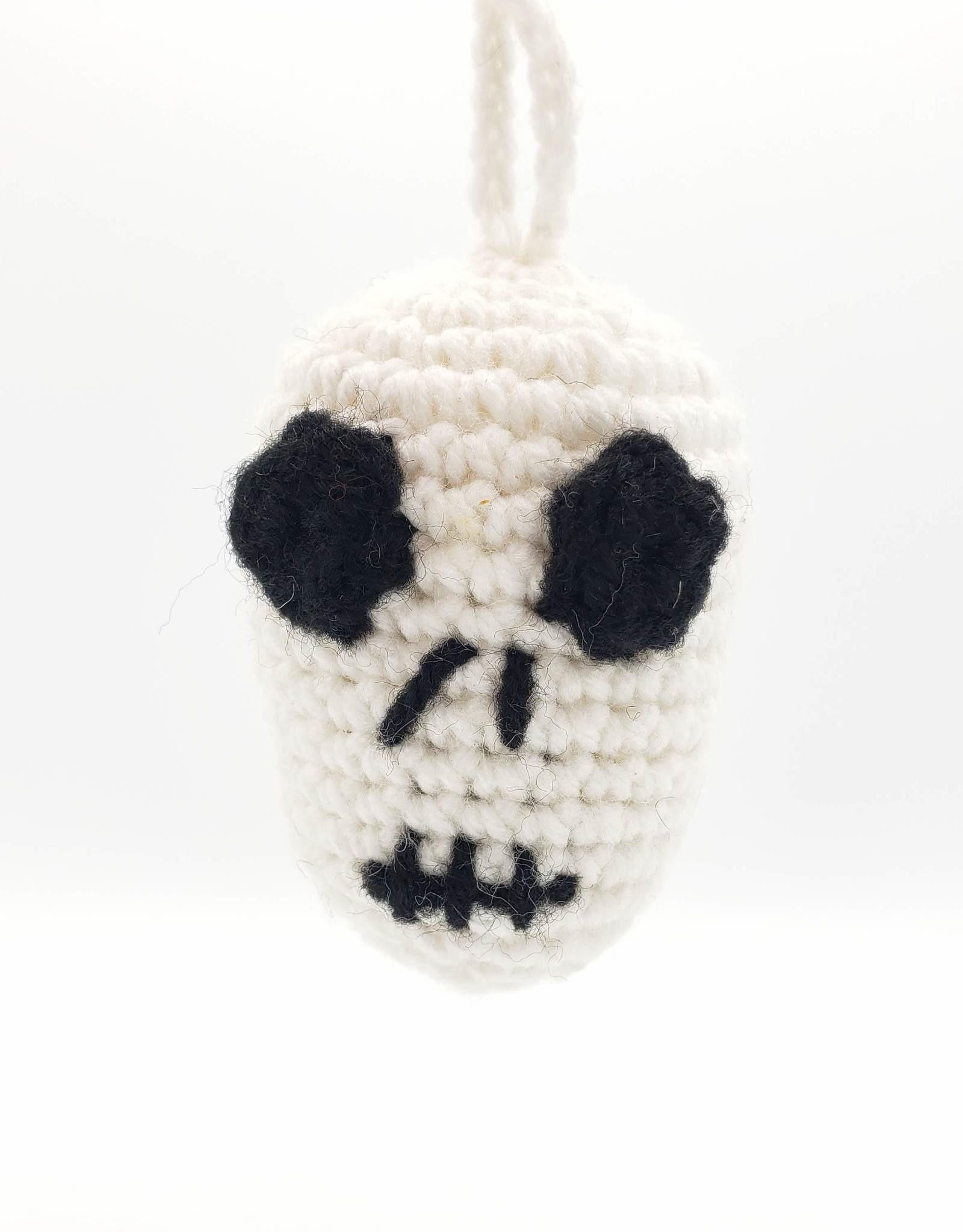 Crocheted Skull Ornament