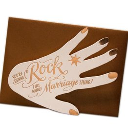 """""""Rock This Marriage"""" Engagement Greeting Card Fancy - Ladyfingers"""