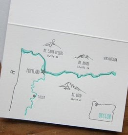 Portland Oregon Map Greeting Card - Lark Press