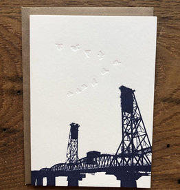 Hawthorne Bridge Portland Greeting Card - Lark Press