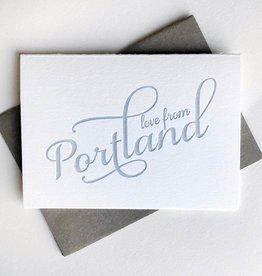 Love From Portland Greeting Card - Steel Petal Press