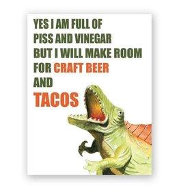 "Mincing Mockingbird ""Craft Beer & Tacos"" Greeting Card - The Mincing Mockingbird"