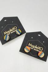 Maple XO Tiny Stud Earrings - Maple XO