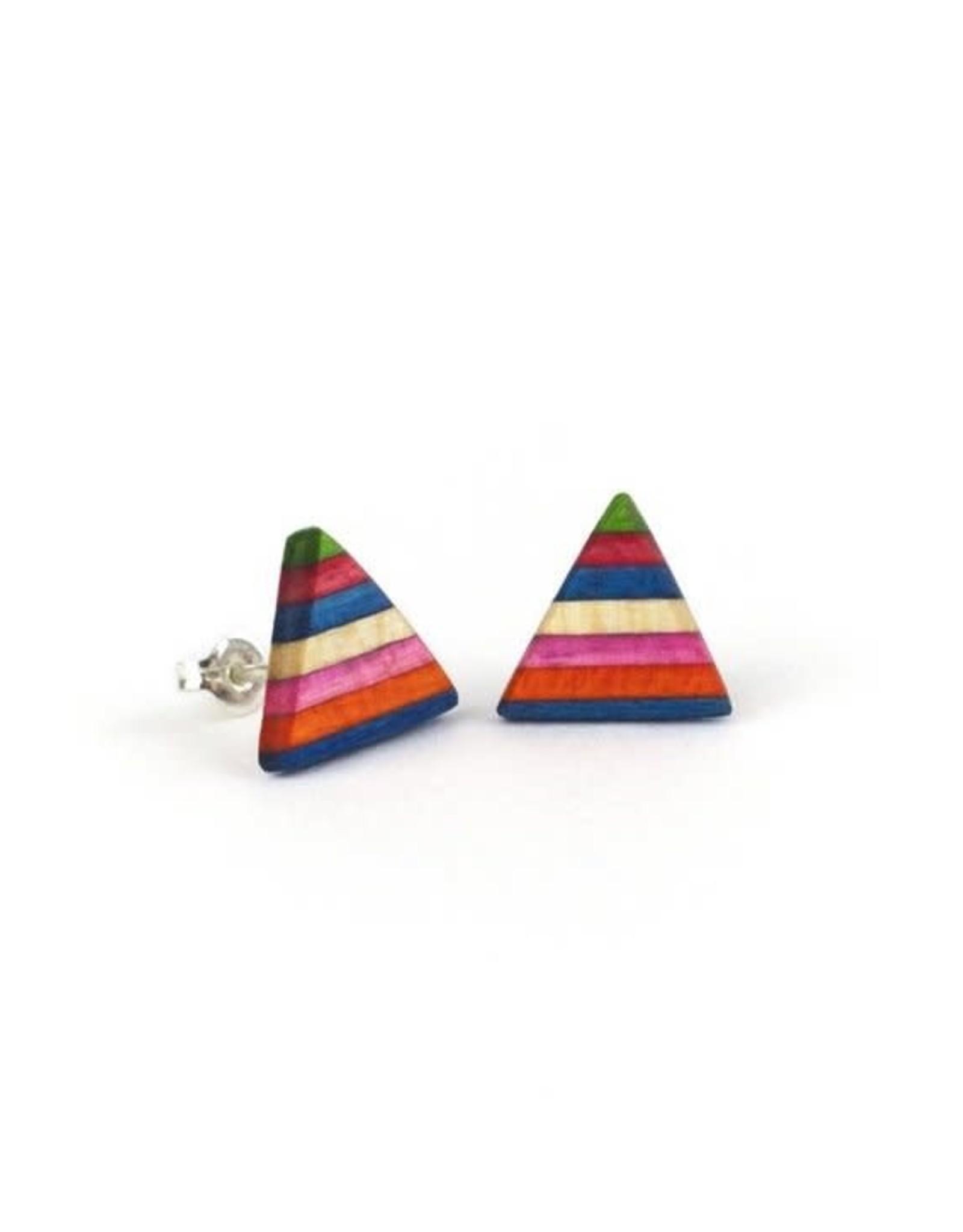 Maple XO Pyramid Stud Earrings - Maple XO