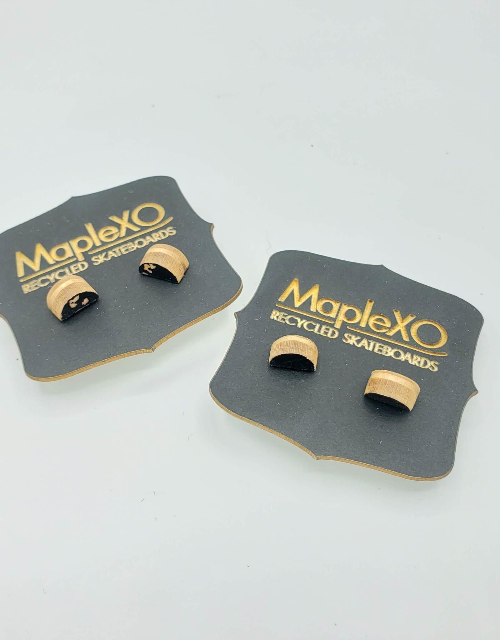 Maple XO Half Moon Skateboard Stud Earrings - Maple XO