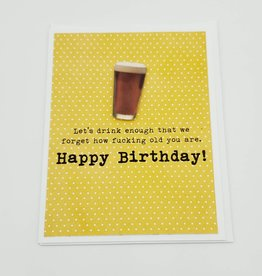 """Let's Drink"" Birthday Greeting Card by Muddy Mouth Cards"