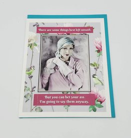 """Best Left Unsaid"" Greeting Card - Umlaut Brooklyn"