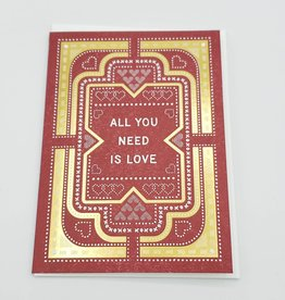 """All You Need is Love"" Greeting Card - Hammerpress"
