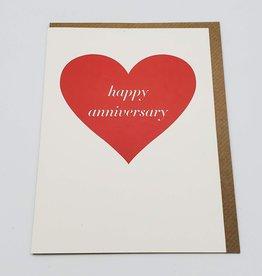 "Seltzer ""Happy Anniversary"" Heart Greeting Card - Seltzer"