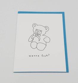 """Wanna Fuck?"" Greeting Card - Melissa Rachel Black"