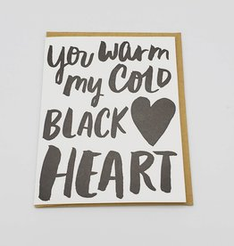 """Cold Black Heart"" Love Greeting Card - Egg Press"