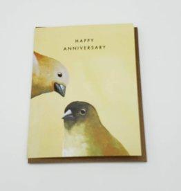 "Mincing Mockingbird ""Happy Anniversary"" Canaries Greeting Card - The Mincing Mockingbird"