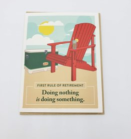"""Seltzer """"First Rule of Retirement"""" Greeting Card - Seltzer"""