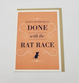 """Seltzer """"Done With The Rat Race"""" Retirement Greeting Card - Seltzer"""